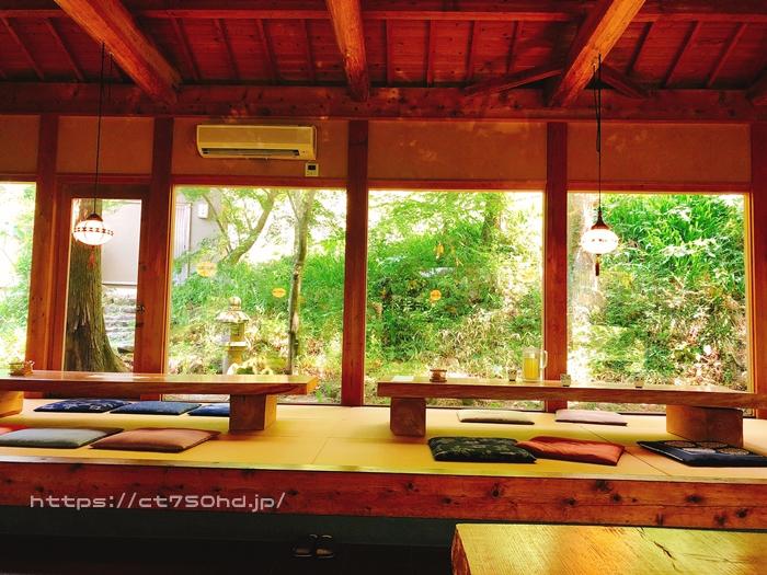 篠栗の茶房わらび野の敷地になる蕎麦屋文次郎_森林浴5